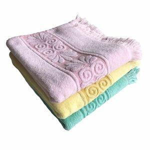Vintage Pastel Pink Yellow Green Towels Bundle 70s